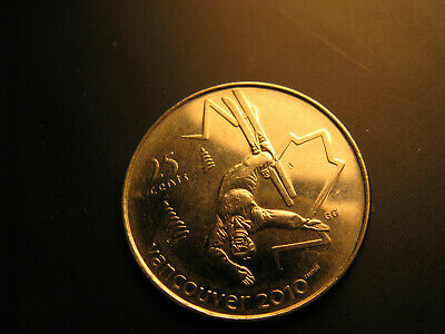 Canada 2008 Vancouver 2010 Olympics Free Style Skiing 25 Cent Mint Coin.