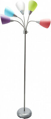 Multi Color Floor Lamp Stand 5-light Dorm Student College Lighting Room Child