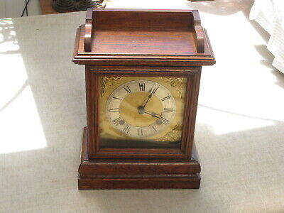 Oak cased striking Ansonia mantle clock from the U.S.A.