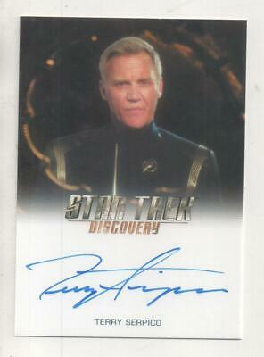 """Star Trek Discovery Auto Trading Card Terry Serpico """"Anderson"""" FULL BLEED"""