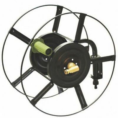 NEW Heavy Duty Wall Mounted Metal Garden Watering Hose Reel Stores up to 75M