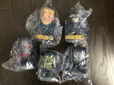 McDonalds 2019 Avengers Endgame Happy Meal Toy Lot Thor Rocket Ant-Man Hulk Iron