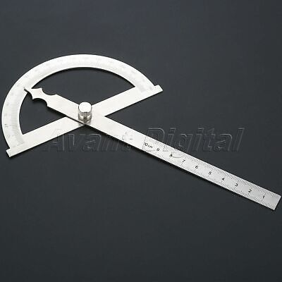 Stainless Steel 180 Degree Protractor Angle Finder Ruler Measuring Tool 100 mm
