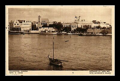 Dr Jim Stamps Entrance St Anna Bay Governors Palace Curacao View Postcard