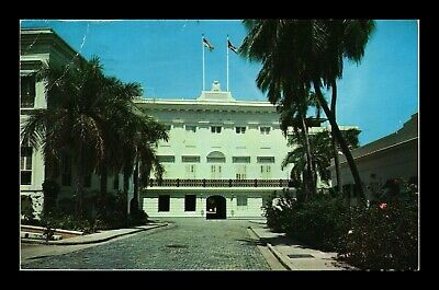 Dr Jim Stamps Us Airmail Fortaleza Governors Residence Puerto Rico Postcard