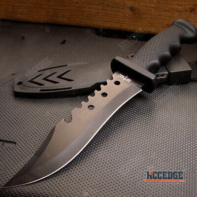 "13"" Military Tactical Survival Hunting Knife Fixed Blade Rambo Army Knife"