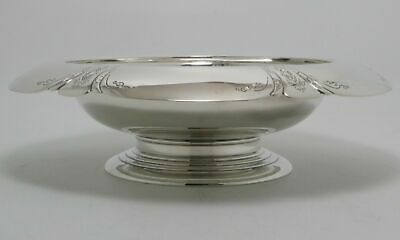 Towle Chased Diana Sterling Silver Center Bowl Footed Rare Art Deco