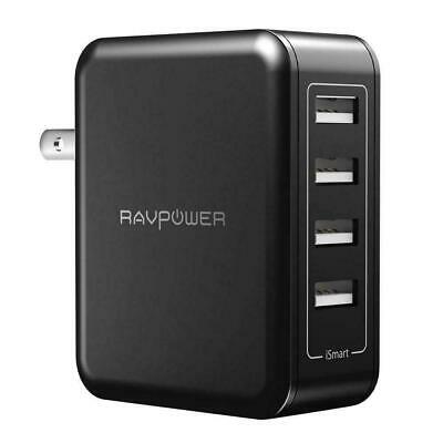 RAVPower USB Wall Charger 40W 8A 4Port MultiPort Travel Charger Charging Station