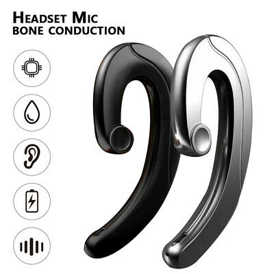 Wireless Hanging Bluetooth Headset Earphone Earbuds Sports+Dual Noise Reduction