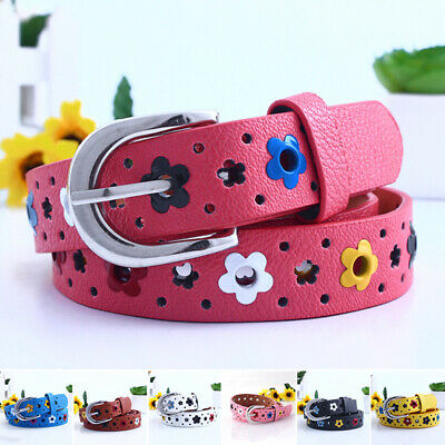 Fashion Casual Children Boys Girls PU-Leather Adjustable Waist Belts Waist Strap