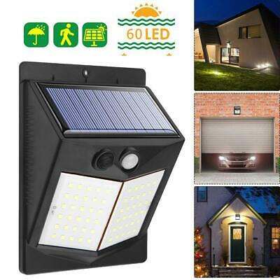 3 Modes Solar LED Wall Light PIR Motion Sensor Outdoor Garden Yard Security Lamp