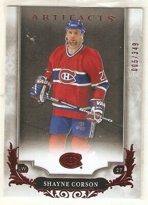 2018-19 Ud Artifacts Ruby Red Parallel Cards You U-Pick From List (1-180) /299
