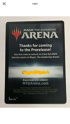 Magic The Gathering Arena 6 Free Booster Packs Core Set 2020 M20 Email Code Only