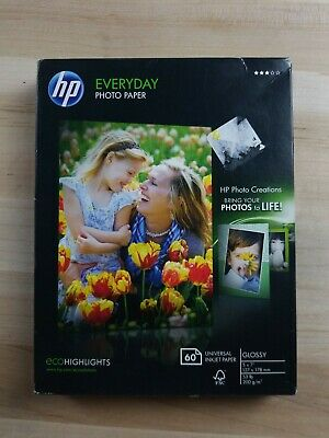 HP Genuine Photo Paper 60 Sheets 5x7 Glossy CH097A A