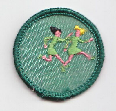 1963-1980 Girl Scout Junior WORLD GAMES BADGE Choose Fabric//Year Running Patch
