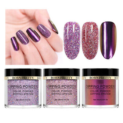 3 Boxes/Set BORN PRETTY Holographic Dipping Powder Nail Art Polish Starter Kit