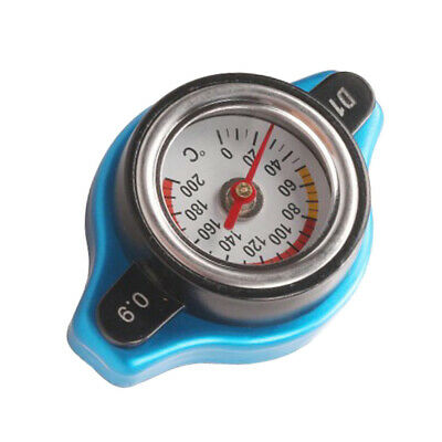 Car Thermost Radiator Cap Cover+ Water Temp Gauge Small Head 0.9BAR For Car/SUV