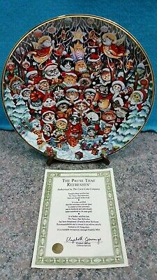Franklin Mint Heirloom Santa Claws by Bill Bell Limited Edition Plate