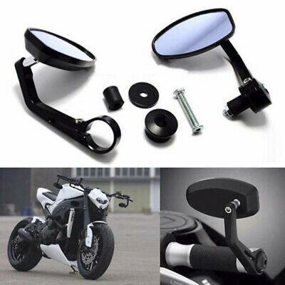 "Pair 22mm 7/8"" Motorcycle Aluminum Rear View Handle Bar End Side Rearview.Mirror"