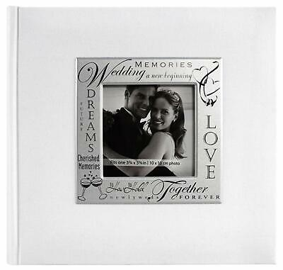 Wedding Theme Photo Album Picture White 200 Pockets Hold 4x6 Inch Frame Gift New