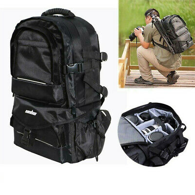 Sturdy Camera Bag Backpack Waterproof Shoulder For Canon Sony Nikon DSLR EOS US