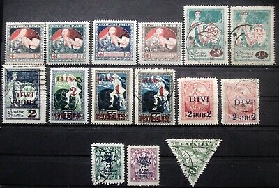 LATVIA - 1920 - 1930 Collection of Used & MH stamps