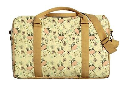 Lovely Cows Flowers Lollipops Printed On Canvas Duffle Luggage Travel Bag WAS_42
