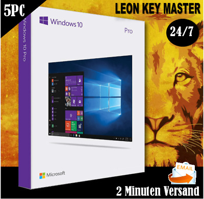 ✔ MS Windows 10 Professional ✔ Win 10 Pro 1/2/3/4/5 PC ✔ ESD ✔per E-Mail