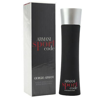 Giorgio Armani Code Sport 100 ml After Shave Lotion old vintage Version