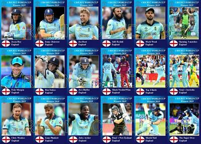 England 2019 Cricket World Cup Final Winners Trading Cards