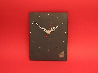 Piano Pewter Motif Slate Clock Mother Father Musician Pianist Christmas Gift