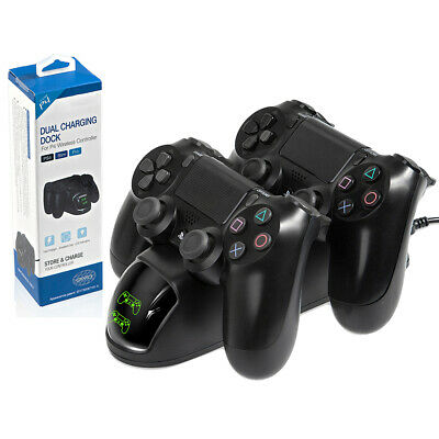 USB Charger Dual USB Fast Charging Dock Station for Playstation 4 PS4 Slim/PS4