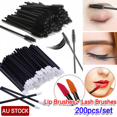 100PCS Disposable Lip Gloss Wands Brushes Lipstick Applicator Makeup Tool Stick