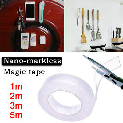 Double-sided Grip Tape Traceless Washable Adhesive Tape Nano Invisible Gel 2019