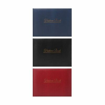 Premium Visitor Padded Book for Hotel Guest House Reception Assorted Colors
