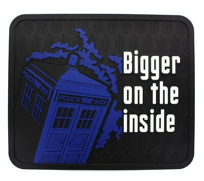 """Doctor Who TARDIS Bigger on the Inside 16"""" x 13.5"""" Rubber Mat"""
