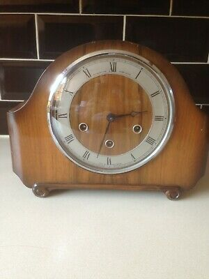 ANTIQUE WESTMINSTER CHIME MANTLE CLOCK by The Alexander Clock Co