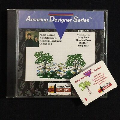 4-Seasons Landscapes Embroidery Designs Card for Brother Baby Lock Deco