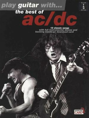 Play Guitar with The Best of AC/DC TAB Music Book with Audio