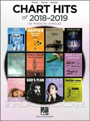 Chart Hits of 2018-2019 Piano Vocal Guitar Sheet Music Book SAME DAY DISPATCH