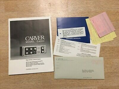 Carver Model C4000 Owner's Manual Instruction High Fidelity Control Console 0424