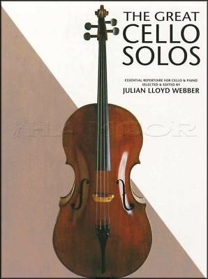 The Great Cello Solos Sheet Music Book Selected by Julian Lloyd Webber Classical
