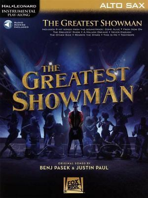 The Greatest Showman for Alto Sax Instrumental Play-Along Sheet Music Book/Audio