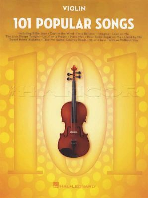 101 Popular Songs for Violin Sheet Music Book Michael Jackson Billy Joel Beatles