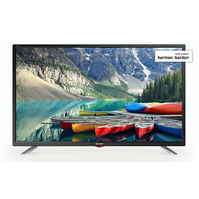 "Sharp 32"" Inch Smart LED TV Full HD 1080p with Freeview Play HD and USB + Wi-Fi"