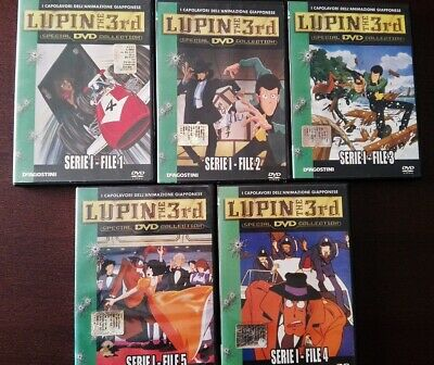 LUPIN THE 3rd Serie I File 1 - 2 -3 - 4 - 5 DVD 5pz. Serie 1 File 1-2-3-4.5