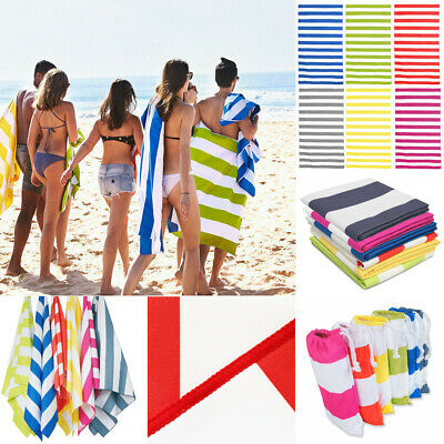 Striped Extra Large Microfibre Beach Towel Quick Dry Absorbed Towel 170x90cm