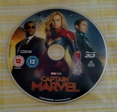 Captain Marvel (3D Blu-Ray) Disc Only, ABC