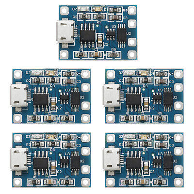 2/5/10PCS TP4056 5V 1A Mini/Micro USB 18650 Lithium Battery Module Charger Board