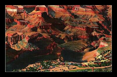 Dr Jim Stamps Us Grand Canyon Aerial View Linen Colortone Postcard